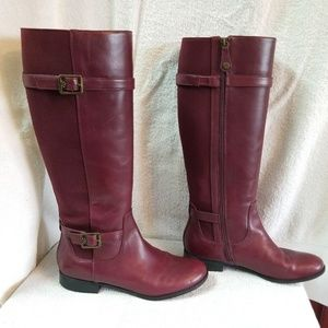 Isaac Mizrahi Live Imarry leather riding boots